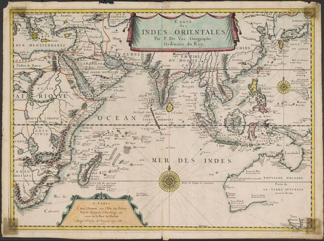 Map of the East Indies and Indian Ocean World, Pierre du Val, 1665. National Library of Australia
