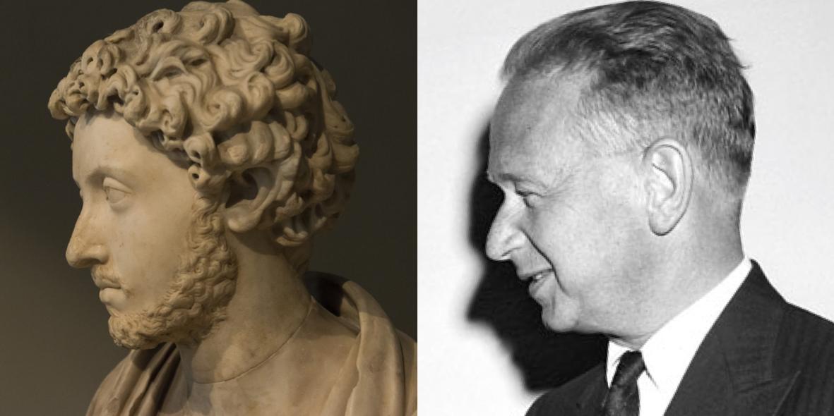 Marcus Aurelius, Roman, 2ndC CE; Dag Hammarskjöld, UN Headoffice, New York, 22 April 1959